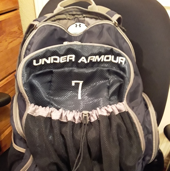 Under Armour Bags   Huge Big Training Backpack Navy Bag   Poshmark f52bc3a000
